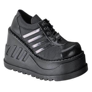 Shoes - Gothic Wedge Shoes Platform Lace Up Punk Shoes
